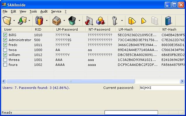 SAMInside - Powerful Tool to Recover Windows Password