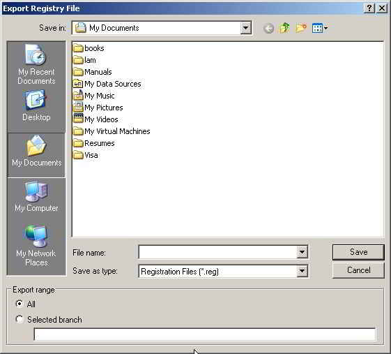 how to create a registry backup