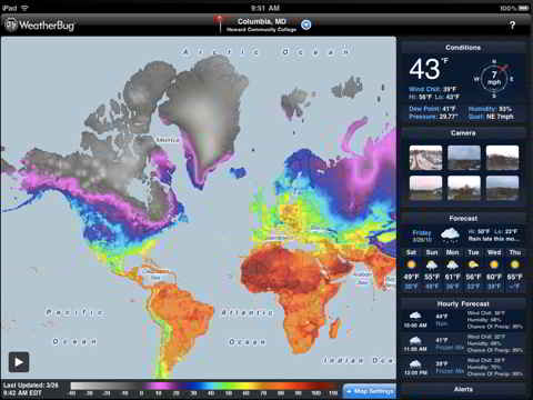 WeatherBug Elite for iPad